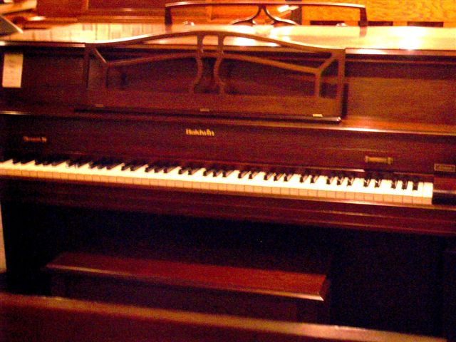 Re-exposure of Mahogany BALDWIN Acrosonic Console (2)